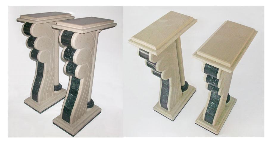 bases de marmol para comedor